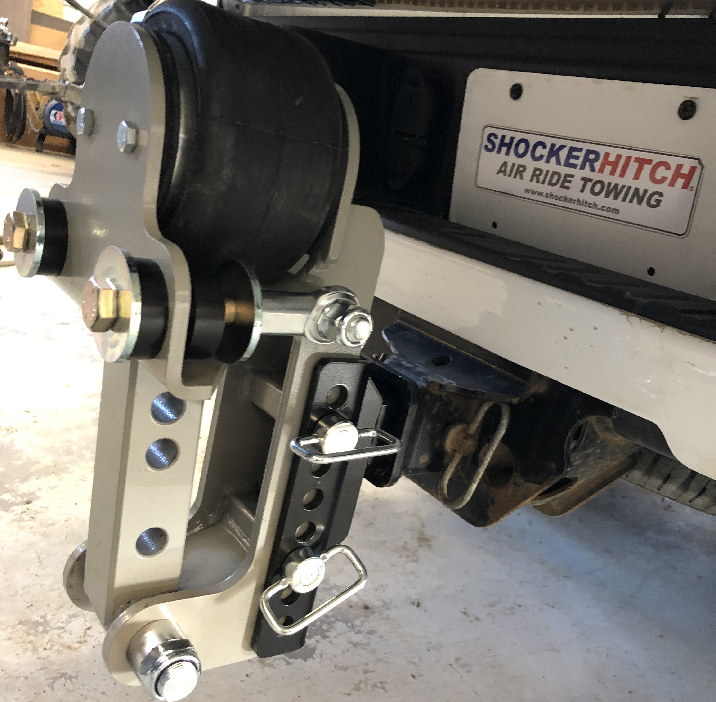 Step 1 Attach Air Equalizer XR Base Frame to Pickup Truck Receiver Hitch